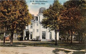 Ohio Postcard c1910 HICKSVILLE Defiance County G.K. OTIS Residence Home