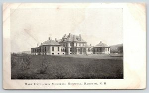 Hanover New Hampshire~Mary Hitchcock Memorial Hospital~Man on Walkway~c1905