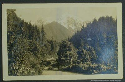 Mt Cheam Cariboo Highway BC Wilson RPPC c 1930+/-