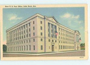 Linen POST OFFICE SCENE Little Rock Arkansas AR AF0966