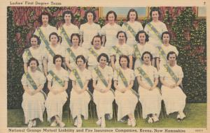 KEENE , New Hampshire, 1930-40s; Ladies' First Degree Team