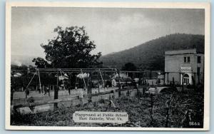Postcard WV East Rainelle Playground at Public School c1940s S20