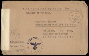 Germany WWII FELDPOST Kriegsgefangenen POW Ottawa Canada Cover 82029