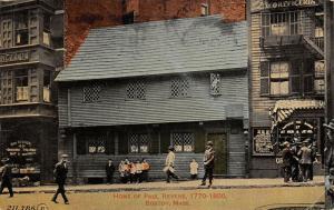 Boston MA~Kids at Home of Paul Revere~Tony Boccuzzi Italian Grocery~1914 PC