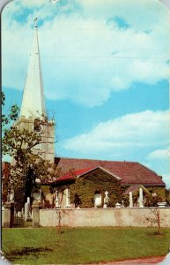 Vtg 1950s Immanuel Church New Castle Delaware DE Postcard