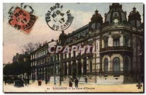 Old Postcard Bank Caisse d & # 39Epargne Toulouse