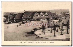 Old Postcard Trouville Deauville station
