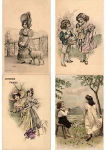 GLAMOUR LADIES VIENNE STYLE ILLUSTRATEUR ARTIST SIGNED 600 CPA