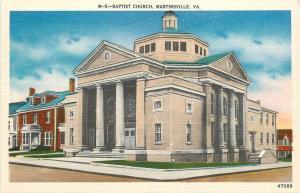Martinsville VA~Octogon Baptist Church~Neighborhoo 1940