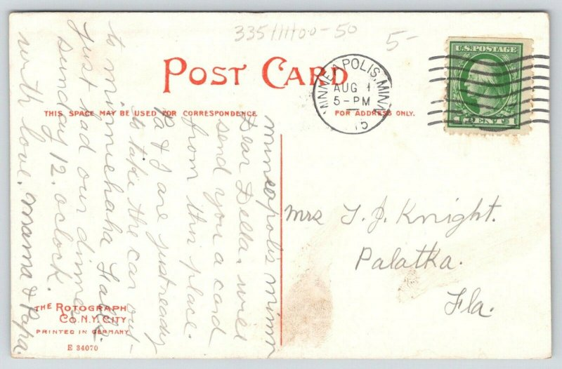 Minneapolis Minnesota~Hennepin Avenue~Columbia Heights Hotel~Trolleys~1915 PC