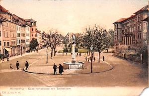 Switzerland Postcard Winterthur Kasernenstrasse mit Technikum