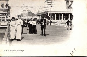 New Jersey Atlantic City Scene On The Boardwalk 1905