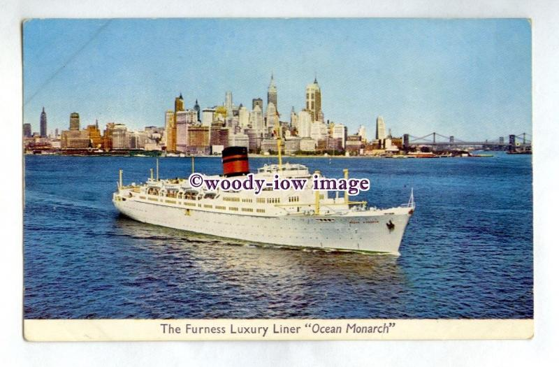 pf7134 - Furness Withy Liner - Ocean Monarch , built 1951 - postcard