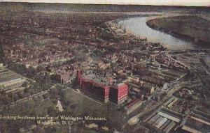 Looking Southeast from top of Washinton Monument, Washington DC, PU-1916