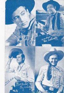 Cowboy Arcade Card Gary Cooper Max Terhume Ray Whitlet & Tex Ritter