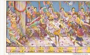 Liebig Trade Card s1501 Bread Wine and Oil Of Rome No 6 L'huile suite