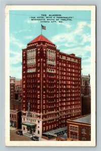 Kansas City MO-Missouri, The Aladdin Hotel, Vintage Postcard