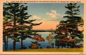 Maine Naples Long Lake and Mt Washington From Bay Of Naples Inn 1947