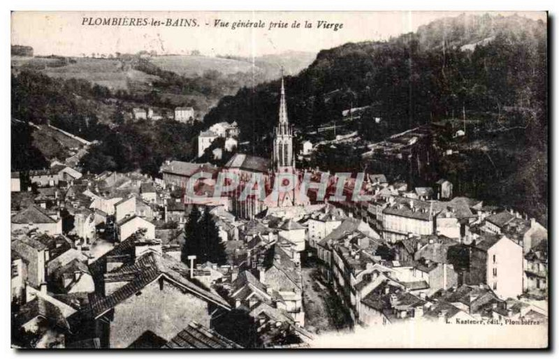 Old Postcard Plombieres les Bains General view taken of the Virgin