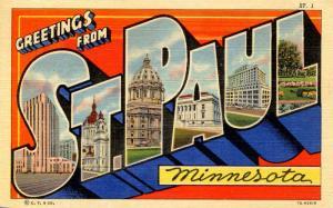 Large Letter - St Paul, Minnesota