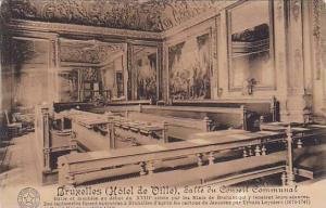 Interior, Hotel De Oille, Salle Du Conseil Communal, Bruxelles, Belgium, 1900...