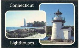 LIGHTHOUSE  Connecticut, USA, 40-60s New LOndon CT & Mystic Seaport CT