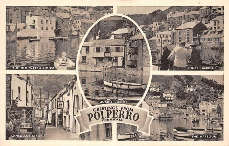 Greetings from Polperro Cornwall, Old Watch House, Inner Harbour