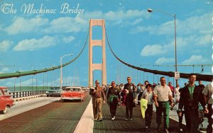 MI - The Mackinac Bridge. Public Bridge Walk