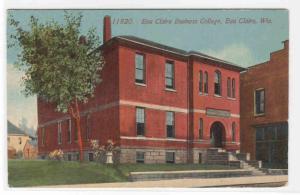 Eau Claire Business College Eau Claire Wisconsin 1910c postcard