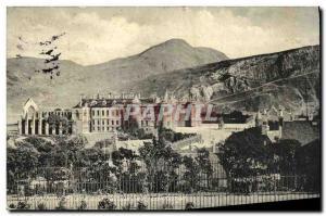 Old Postcard Edinburgh Holyrood Palace and Arthur's Seat