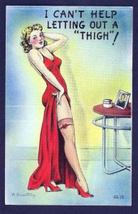 'I Can't Help Letting Out a Thigh' Armstrong unused c1940's