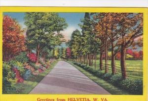 West Virginia Greetings From Helvetia 1963