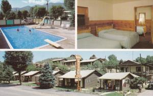 Swimming Pool, Inside View, Western Motel Cabins, Coke Machine, MANITOU SPRIN...