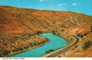 Vintage Postcard Scenic Drive on Highway Payette River Near Banks Canyon Idaho
