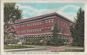 Oregon OR Postcard c1920 CORVALLES State College Commerce Building