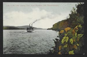 Lady of the Lake Steamer Owls Head Mountain Lake Memphremagog Vermont Used c1911
