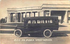 Platteville WI Reo 32 Passenger Speed Wagon Bus RPPC Postcard