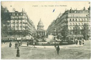 France, Paris, La Rue Soufflot et le Pantheon, early 1900s