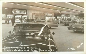 General Motors Motorama Oregon Centennial Exposition RPPC Photo Postcard 10130