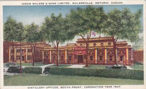 Canada Hiram Walker & Sons Distillery Offices Walkerville Ontario