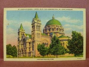 Old Postcard MO St. Louis Cathedral