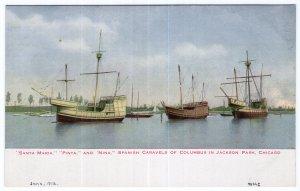 Chicago, Santa Maria Pinta and Nina Spanish Caravels Of Columbus