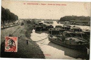 VIETNAM INDOCHINE - Cochinchine - Saigon - Entrée de l'arroyo chinois (190230)