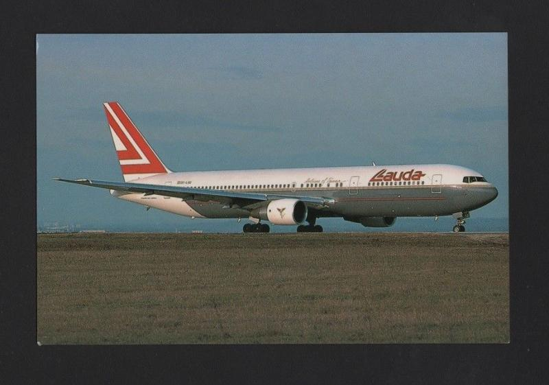 postcard AIRCRAFTS airplane BOEING 767 LAUDA AIR AIRCRAFT AUSTRIA AIRPLANES