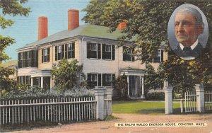 The Ralph Waldo Emerson House Concord, Massachusetts Postcard