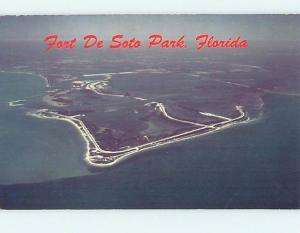 Pre-1980 AERIAL VIEW St. Petersburg And Mullet Key Florida FL hs8423