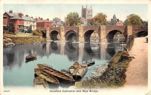 England Hereford Cathedral and Wye Bridge Boats 1908