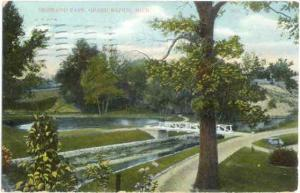 Highland Park View, Grand Rapids, Michigan, MI, 1910 Divided Back