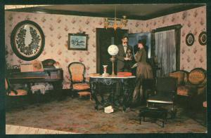 Victorian Living Room at the Museum of Science and Industry Chicago IL Postcard