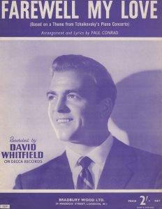 Farewell My Love David Whitfield Sheet Music